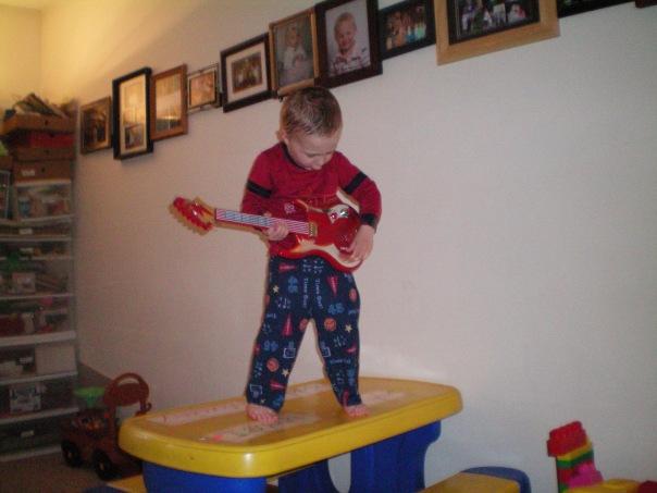 Isaiah Rocking out