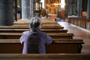 Woman in Empty Church